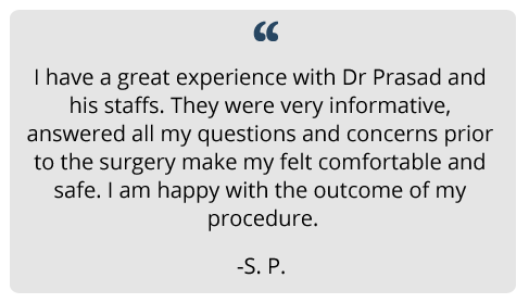 patient testimonial on procedure experience and results done at Prasad Cosmetic Surgery