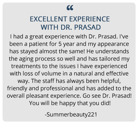 patient testimonial about her experience with Dr. Prasad